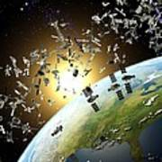 Space Junk, Conceptual Artwork Art Print