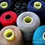 Spools Of Yarn Art Print by Yali Shi