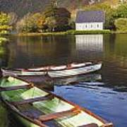 St. Finbarres Oratory And Rowing Boats Art Print by Ken Welsh
