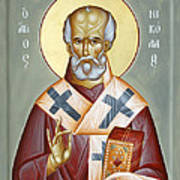 St Nicholas Of Myra Art Print by Julia Bridget Hayes