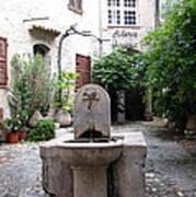 St. Paul De Vence Fountain Art Print