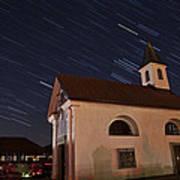 Star Trails Behind Vodice Chapel Art Print
