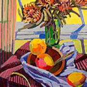 Still Life With Mangoes Art Print