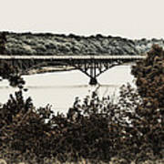 Strawberry Mansion Bridge From Laurel Hill Art Print