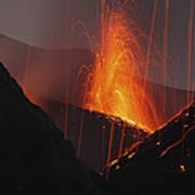 Stromboli Eruption, Aeolian Islands Art Print
