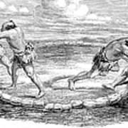 Sumo Wrestling, 1853 Art Print