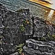 Sunset Please On The Rocks Art Print
