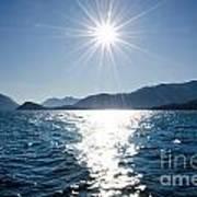 Sunshine Over An Alpine Lake Art Print