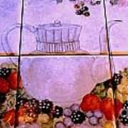 Teapot And Berries Art Print