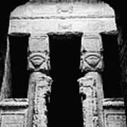 Temple Of Hathor Art Print by Photo Researchers, Inc.
