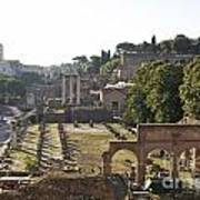 Temple Of Vesta Arch Of Titus. Temple Of Castor And Pollux. Forum Romanum Art Print by Bernard Jaubert
