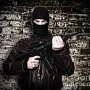 Terrorist Portrait Art Print by Gualtiero Boffi
