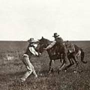 Texas: Cowboys, C1908 Art Print