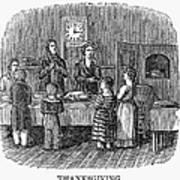 Thanksgiving, 1853 Art Print