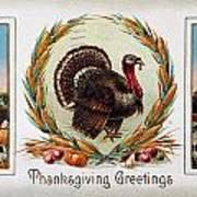 Thanksgiving Card, 1910 Art Print