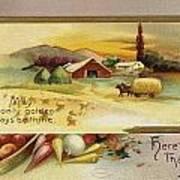 Thanksgiving Card, C1910 Art Print