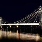The Albert Bridge London Art Print