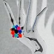 The Black Hand In Negative Art Print