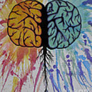 The Brain Art Print by Holly Hunt