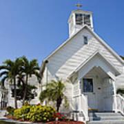 The Community Chapel Of Melbourne Beach Florida Art Print