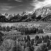 The Grand Tetons And The Snake River Art Print