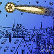 The Great Comet Of 1556 Art Print by Science Source