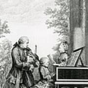 The Mozart Family On Tour, 1763 Art Print