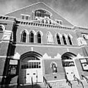 The Ryman Auditorium Former Home Of The Grand Ole Opry And Gospel Union Tabernacle Nashville Art Print