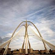 The Seri Wawasan Bridge In Purajaya In Malaysia Art Print