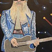 The Tone Master.billy Gibbons. Print by Ken Zabel