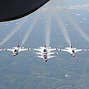 The U.s. Air Force Thunderbird Art Print