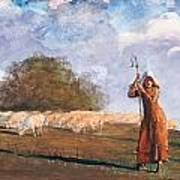 The Young Shepherdess Art Print