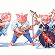 Thin Piggy Art Print