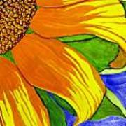 This Is No Subdued Sunflower Art Print