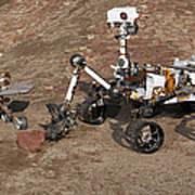 Three Generations Of Mars Rovers Art Print