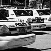 Toronto Police Squad Cars Outside Police Station In Downtown Toronto Ontario Canada Art Print