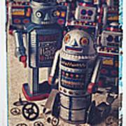 Toy Robots Art Print