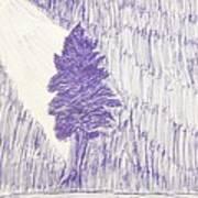 Tree In Moonlight Art Print