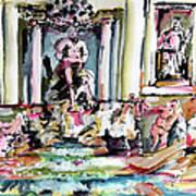 Trevi Fountain Rome Italy  Art Print