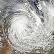 Tropical Cyclone Yasi Over Australia Art Print