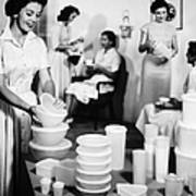 Tupperware Party, 1950s Art Print