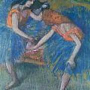 Two Dancers Art Print by Edgar Degas