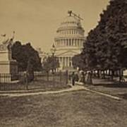 United States Capitol Building In 1863 Art Print