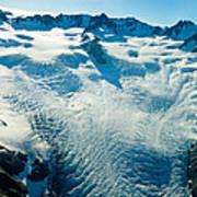 Upper Level Of Fox Glacier In New Zealand Art Print