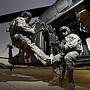 U.s. Air Force Crew Strapped Art Print