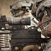 U.s. Army Rangers In Afghanistan Combat Art Print