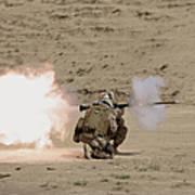 U.s. Marine Fires A Rpg-7 Grenade Art Print