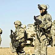 U.s. Soldiers Conduct A Combat Patrol Art Print