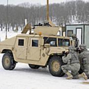 U.s. Soldiers Take Cover Art Print
