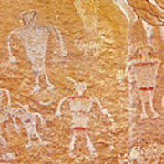 Usa, Utah And Colorado, Dinosaur National Monument, Petroglyphs Art Print